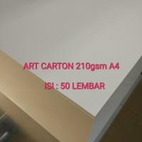 Kertas art carton/art paper 210 gsm A4 isi 50 lembar