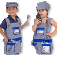 Baju kostum anak profesi mekanik Train engineer costume mechanic