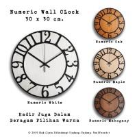 Jam Dinding Numeric Wall Clock Mesin Sweep Movement
