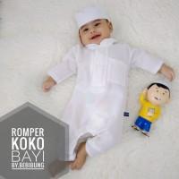 Baju Koko Romper Baju Bayi Akikah Newborn XS