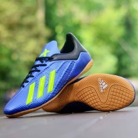 Sepatu Futsal Adidas X Techfit 19 Biru Hijau Import Sport