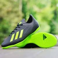 Sepatu Futsal Adidas X Techfit 19 Hitam Hijau Import Sport