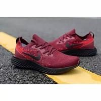 Sepatu Nike Epic React Flyknit Red Maroon High Premium Quality