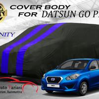 Body Cover 2 Warna Sarung Mobil 2 Warna Hitam Biru - Datsun GO Plus