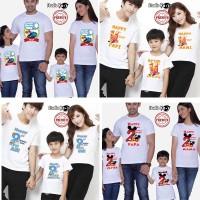 Baju Kaos Putih Ulang Tahun Couple Family Size Anak Dan Dewasa Unisex