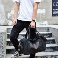 Tas Selempang kanvas Carter (ada bantalan utk tempat laptop) - khaki