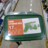 Food Storage Box 17pcs Set/ Tempat Kotak Makanan Plastik 17pcs Set