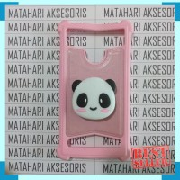 [ CASH-BACK ] Case Advan Anti Crack Karakter Panda Gambar 3D POPSOCKET