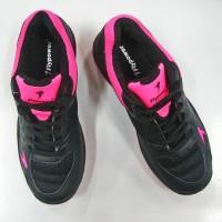 Sepatu Badminton Bulutangkis FLYPOWER PAWON 4 Black Pink Junior Anak