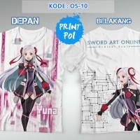 Yuna - Sword Art Online Ordinal Scale Kaos FullPrint 2 [Full Print]
