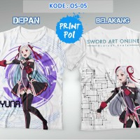 Yuna - Sword Art Online Ordinal Scale Kaos FullPrint [Full Print]