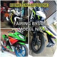 Full fairing yamaha Byson Carbu model ninja fi