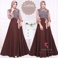 Baju Gamis Balotelli Wanita Muslim Terbaru Zahira Dress Termurah