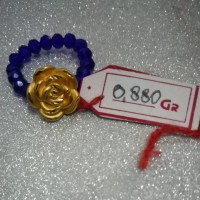 cincin mawar emas hongkong 24k