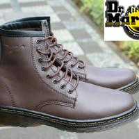Dr Martens High Docmart Coklat Sepatu pria Tinggi 8Hole Boots Hiking
