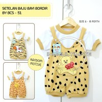Baby Tom Baju Bayi Laki Laki Perempuan Setelan Bordir BCS-51 RANDOM