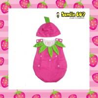 Baju Bayi Perempuan 3 bln 0-6 bulan 1 tahun Pink Strawberry Lucu Unik