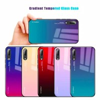 Gradient Tempered Glass Case Warna Gradasi Huawei P20 P20 lite P20 Pro