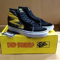 Sepatu Vans Sk8 Hi Bad Brain Yellow Black Waffle ICC - Premium BNIB