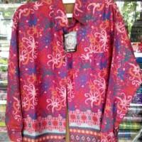 Baju Batik Motif Khas Dayak Kalimantan Lengan Panjang