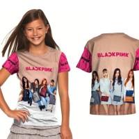 Baju / Kaos Anak Perempuan Gambar Kpop BlackPink Seri 03