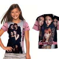 Promo!!! Baju / Kaos Anak Perempuan Blackpink Full Printing Series 05
