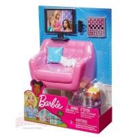 Mainan Furniture Boneka Barbie Sofa Living Room & TV Set MATTEL