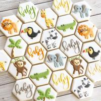 butter cookies dengan icing | kukis hias ulang tahun animal