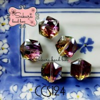 High Quality Manik Kristal Dual Color Rainbow Bahan Gelang Bros Juntai