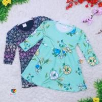 Dress Azizah 4-5 Tahun / Dres Anak Lengan Panjang Baju Harian Perempua