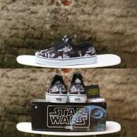 Sepatu STAR WARS x Vans Authentic Planet Hoth DK Side Black BNIB