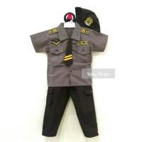 Setelan Baju Bayi Anak Cowok / Laki-Laki Profesi Kostum Polisi + Topi