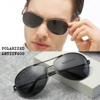 kacamata hitam antisilau polarized design aviator metal pria wanita
