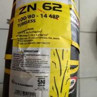 Ban Motor Zeneos Tubeless ZN62 TL 100/80-14 48P Original Gajah Tunggal