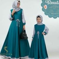 Baju Gamis Muslim Couple Renata Dress Ibu dan Anak