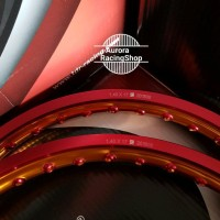 Velg TDR Wx Shape Two Tone Set Ring 17 x 140 - 140 warna Red Gold