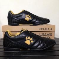 Peling Murah Sepatu Futsal Kelme Power Grip Black Gold 1102091