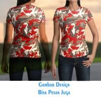 T-shirt Kaos Wanita 02 CAMO ARMY FAMOUS Jaman Now Fullprint