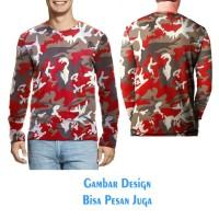 T-shirt Kaos Tangan Panjang 02 CAMO ARMY FAMOUS Jaman Now Fullprint