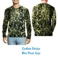 T-shirt Pria Tangan Panjang CAMO ARMY 04 Jaman Now Fullprint Terbaru