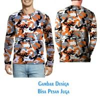 T-shirt Pria Tangan Panjang CAMO ARMY 03 Jaman Now Fullprint