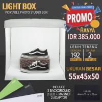LIGHT BOX PORTABLE MINI PHOTO STUDIO MAGIC BOX UKURAN BESAR 55X45X50cm
