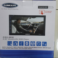 Tv mobil audio double din double dyn dvd concept mobil agya/ayla