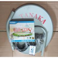 antena parabola ninmedia 45cm lengkap receiver matrix burger hd