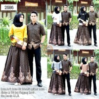 Baju Couple Batik Set Renda Baju Batik Couple Rok n Blus Couple Gamis