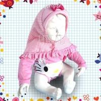 baju bayi jumper jilbab mikey mouse wanita cewek lucu