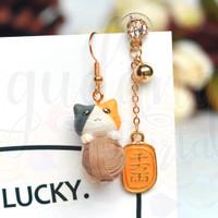 Anting Stud Asimetris Japan Lucky Cat Lucu Unik Kucing GH 203588