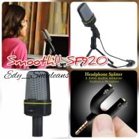 Paket Recording Smule Bigo Vlog ASMR Microphone Smooth SF920 SF-920