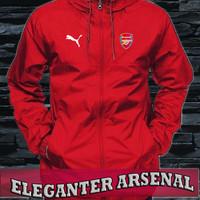 Jaket hoodie Parasut anti air tracker arsenal red