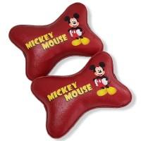 TECHNOZIO Bantal mobil Mickey / Bantal leher mobil Mickey